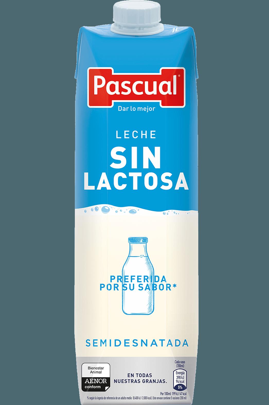 Leche Pascual Sin Lactosa Semidesnatada - Leche de Bienestar Animal