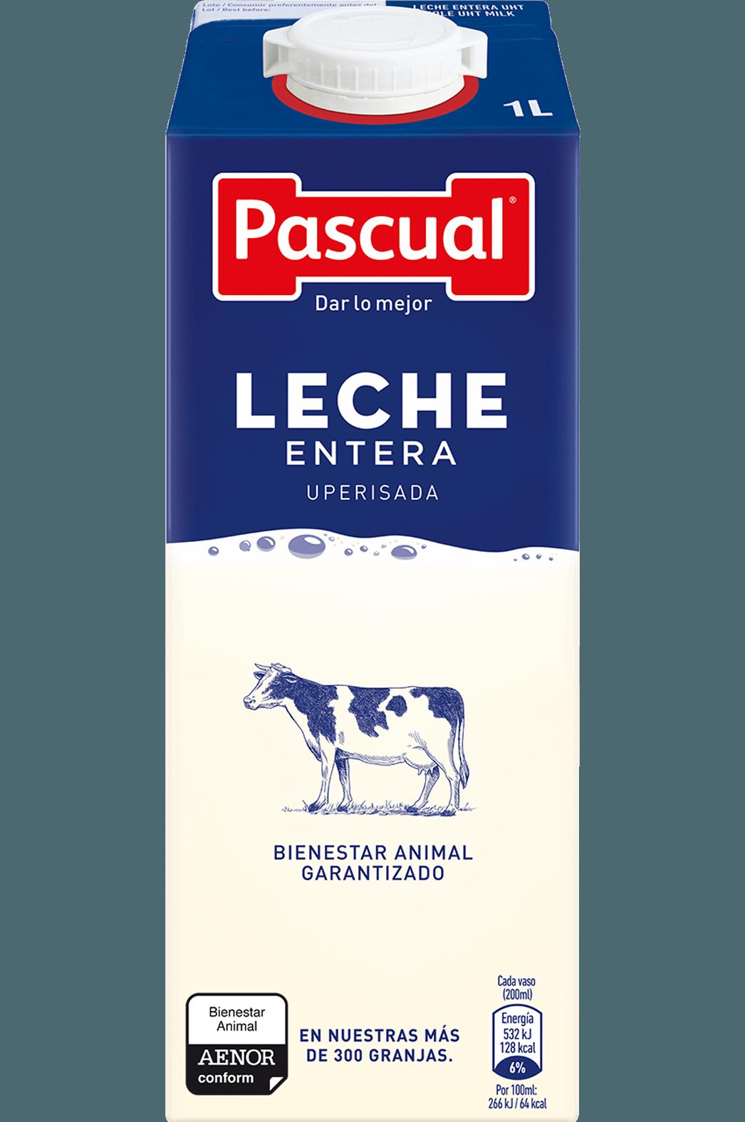 Leche Entera Pascual - Leche de Bienestar Animal