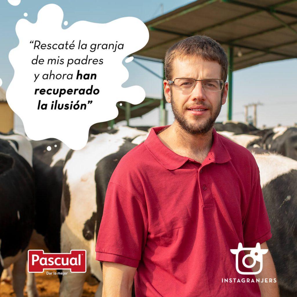 Instagranjers - ganadero Leche Pascual